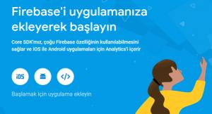 Firebase'i Android'e Ekle
